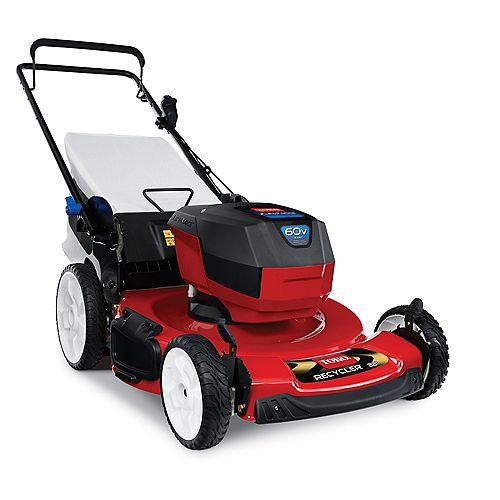 Recycler L324 22-inch 60V Max (6.0ah) Cordless Electric Lawnmower