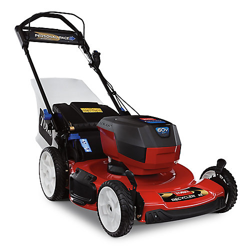 Recycler Personal Pace 22-inch 60V Max (7.5ah) Cordless Electric Lawnmower