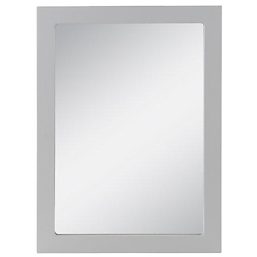Miroir mural encadré Lancaster  de 68,24cm l  x 50,16cm en gris perle