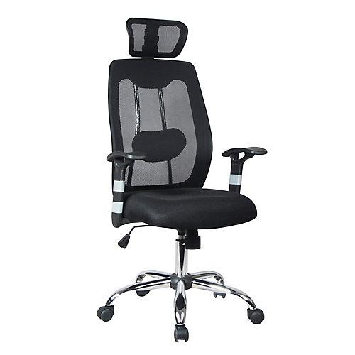 Chaise de bureau ergonomique à dossier haut en maille