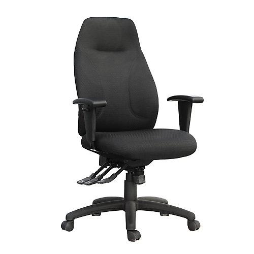 Chaise de bureau en tissu à haut dossier