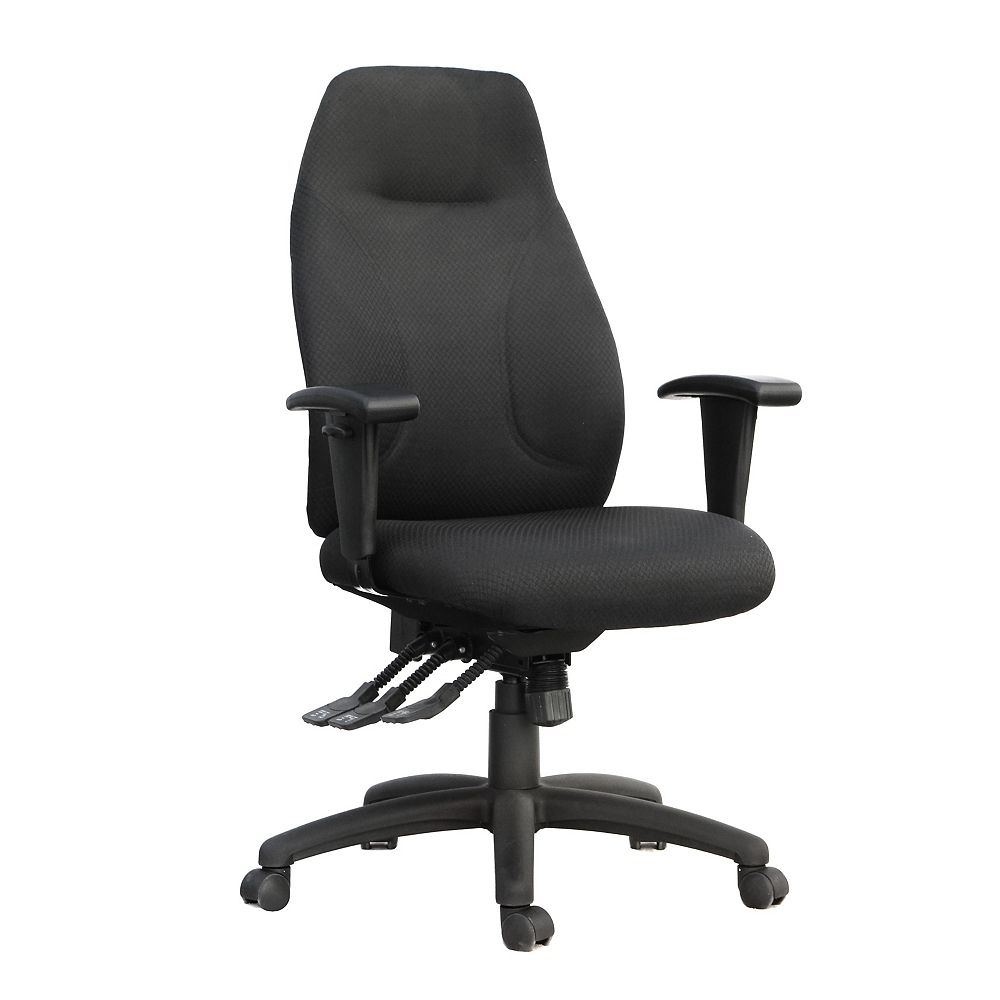 Tygerclaw Executive High Back Fabric Office Chair The Home Depot Canada