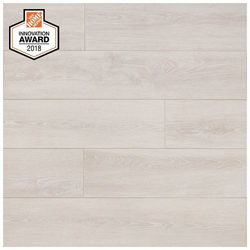 Fog Wood 8-inch x 40-inch Glazed Porcelain Floor and Wall Tile (2.15 sq. ft. / piece)
