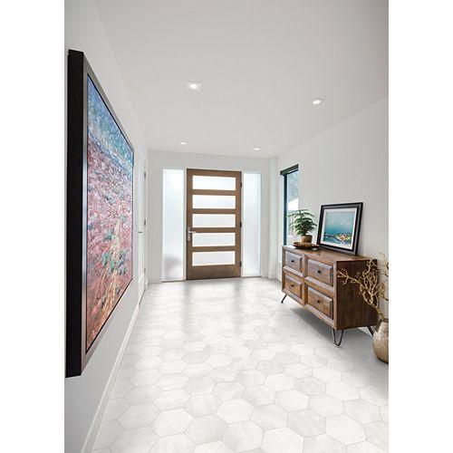 Artisano Bianco 7-inch x 8-inch Hexagon Porcelain Tile
