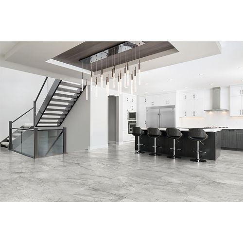 Majorca Fog 24-inch x 24-inch Polished Rectified Porcelain Tile