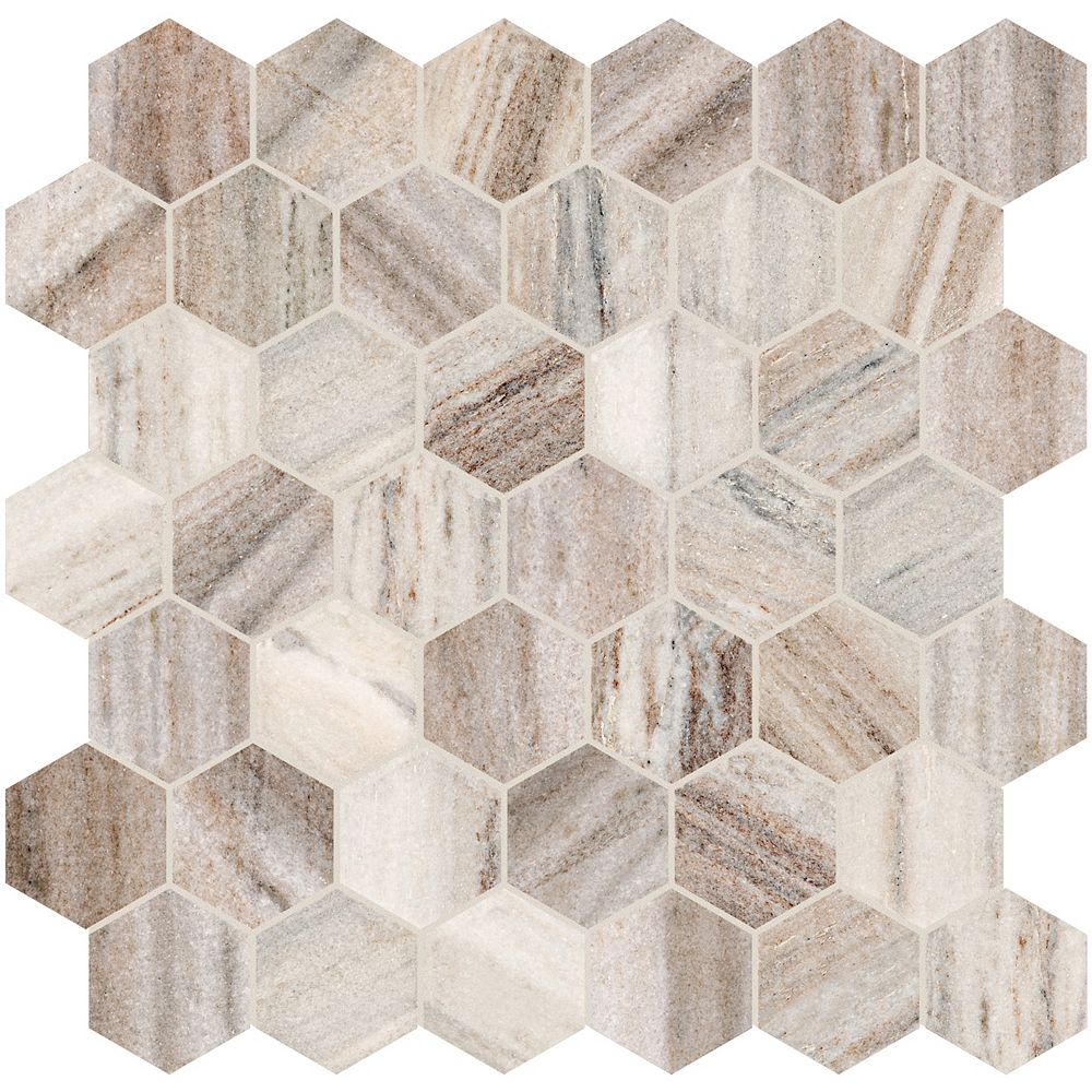 Enigma Toscana 2-inch Hexagon Polished Marble Mosaics