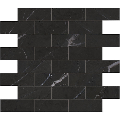 Marquina 1.5-inch x 4-inch Brick Polished Marble Mosaics
