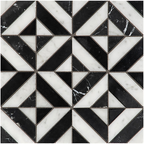 Marquina Parquet Polished Marble Mosaics