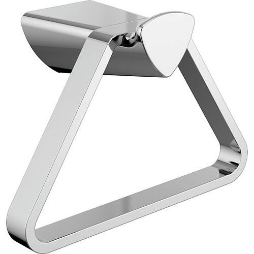 7.8-inch W Zura Towel Ring in Polished Chrome