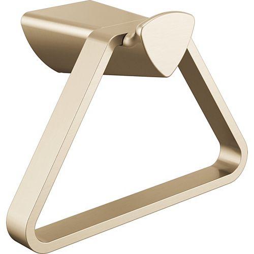 7-inch W Zura Towel Ring in Champagne Bronze