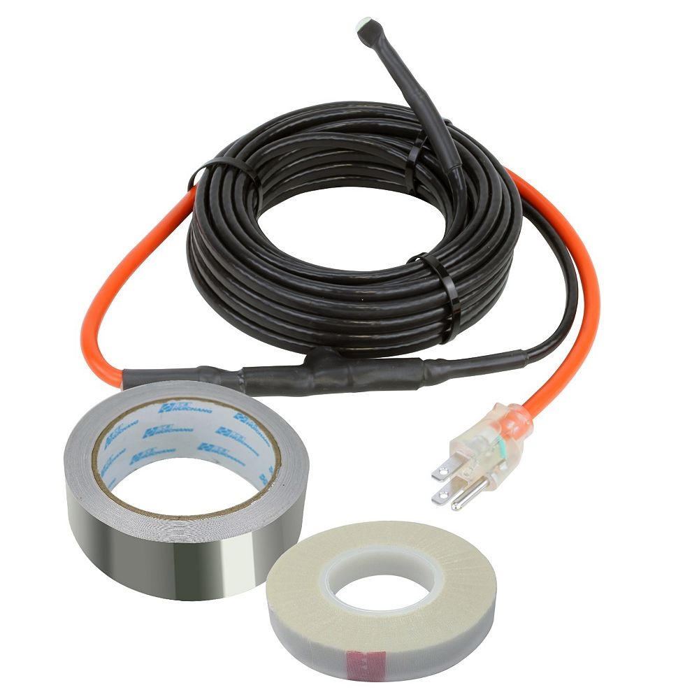 WarmlyYours Pipe Tracing Heat 12-ft. Cable Kit (7-W per ft.)