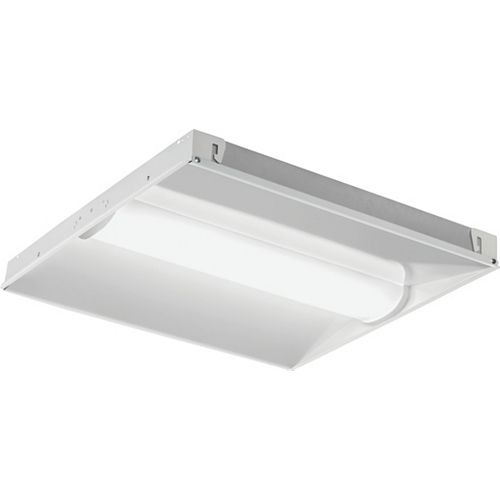 center basket LED troffer fixture