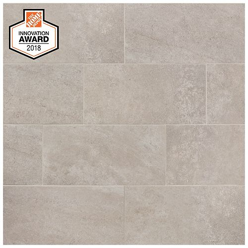 Quartzite 12-inch 24-inch Glazed Porcelain Floor and Wall Tile (1.95 sq. ft. / piece)