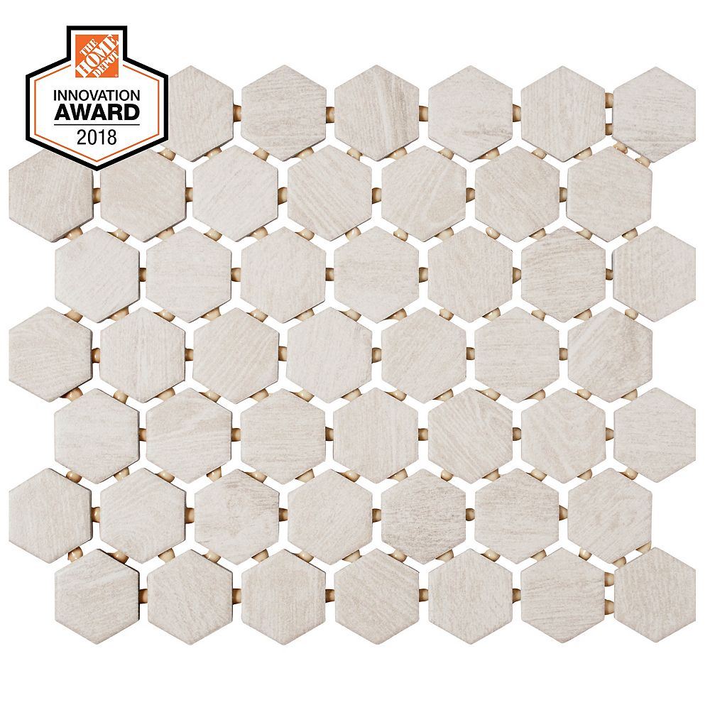 Inch X 6 Mm Ceramic Hexagon Mosaic Tile