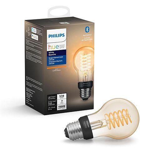 White Single Filament Bulb A19 E26 Light Bulb