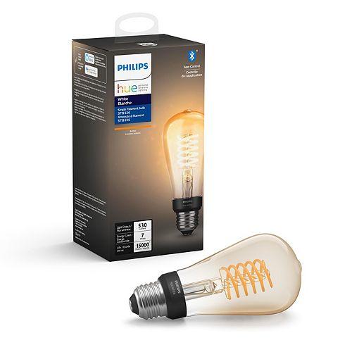 White Single Filament Bulb ST19 E26 LED Light Bulb