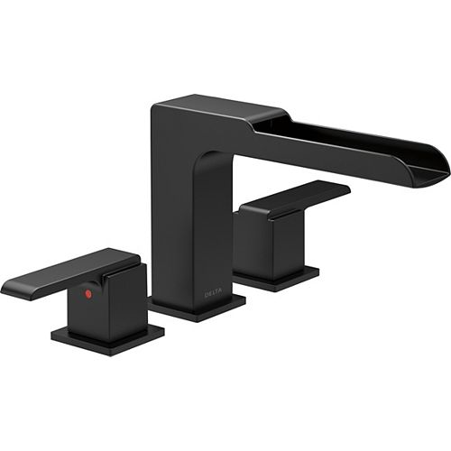 12.75-inch Ara Roman Tub Trim with Channel Spout in Matte Black (Valve Sold Separately)