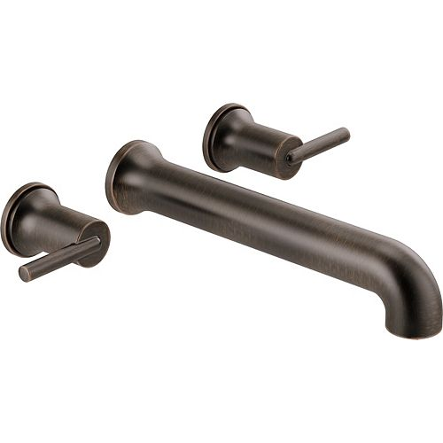 Delta Trinsic Two-Handle Wall Mounted Tub Filler Trim in Venetian Bronze (Valve Sold Separately)
