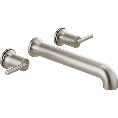 Trinsic Two-Handle Wall Mounted Tub Filler Trim in Stainless Steel
