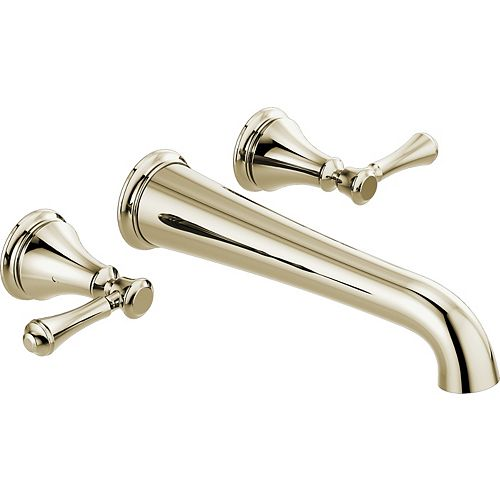 Cassidy Wall Mounted Tub Filler Trim, Polished Nickel (Valve Sold Separately)