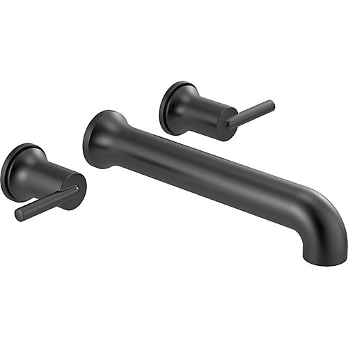 Trinsic Two-Handle Wall Mounted Tub Filler Trim in Matte Black