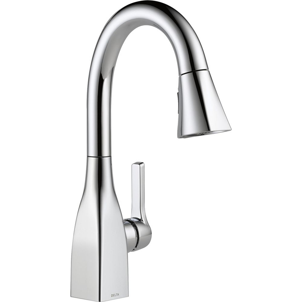 Delta Mateo Single Handle Pull-Down Bar/Prep Faucet in Chrome