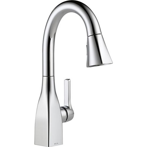 Delta Mateo Single Handle Pull-Down Bar/Prep Faucet in Chrome