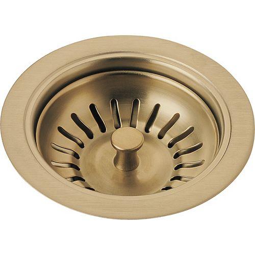 Kitchen Sink Flange and Strainer, Champagne Bronze