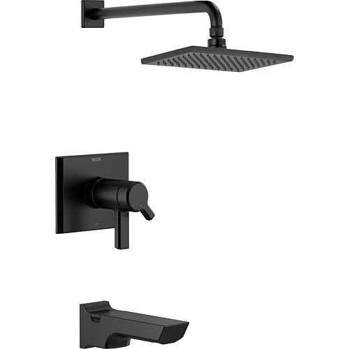 Pivotal TempAssure 17T Series H2Okinetic Tub and Shower Trim, Matte Black (Valve Sold Separately)