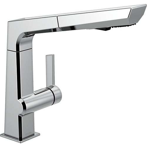 Delta Pivotal Single-Handle Pull-Out Sprayer Kitchen Faucet in Chrome