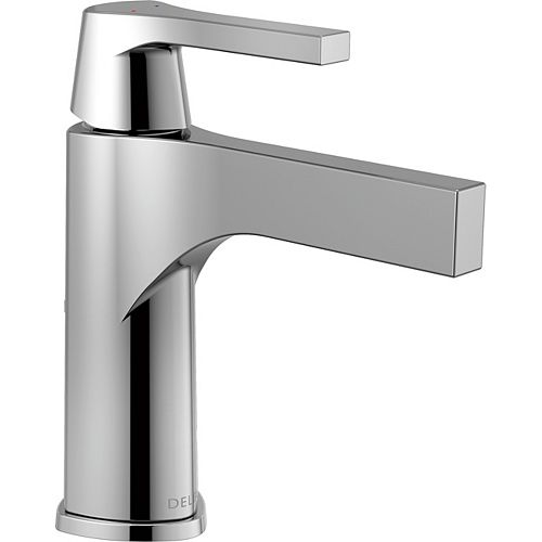 Delta Zura Single Hole Single-Handle Bathroom Faucet in Chrome