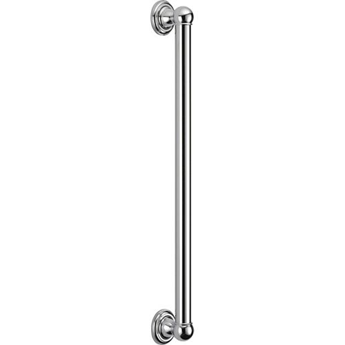 Delta 1-1/4-inch x 24-inch ADA Grab Bar, Concealed Mounting in Chrome