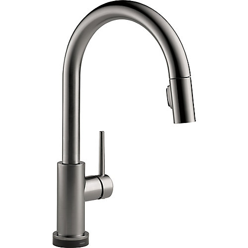 Trinsic Single Handle Pull-Down Kitchen Faucet with Touch in Black Stainless
