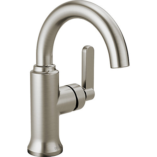 Alux Single Handle Centerset Lavatory Faucet in SpotShield Brushed Nickel