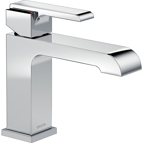 Ara Single Handle Lavatory Faucet - Less Pop Up, Chrome