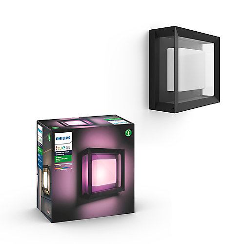 Hue Econic Integrated LED White and Colour Ambiance Square Outdoor Light Fixture