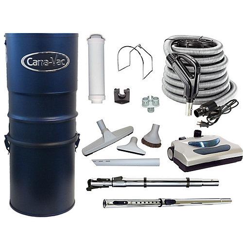 Aspirateur central électrique puissant, 566airwatts, accessoires