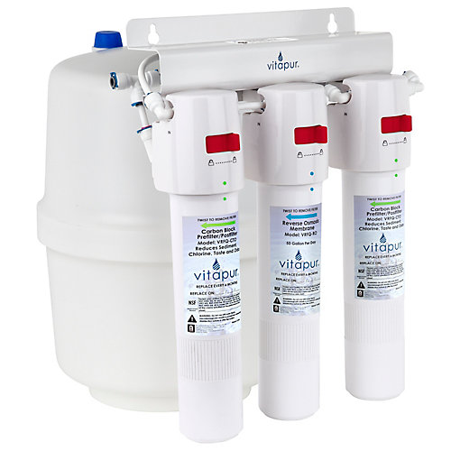 Three stage quick connect reverse osmosis treatment system