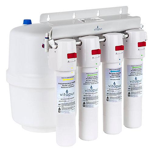 VRO-4Q Système de traitement à osmose inverse à quatre étapes à connexion rapide