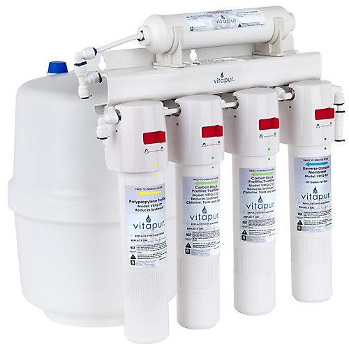 VRO-5Q Système de traitement à osmose inverse à cinq étapes à connexion rapide