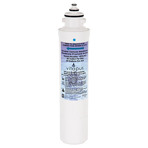 Replacement reverse osmosis membrane for use with reverse osmosis treatment systems