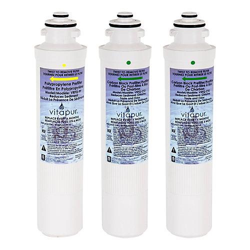 Ensemble de filtres pour système VRO-4Q - comprend 3 filtres