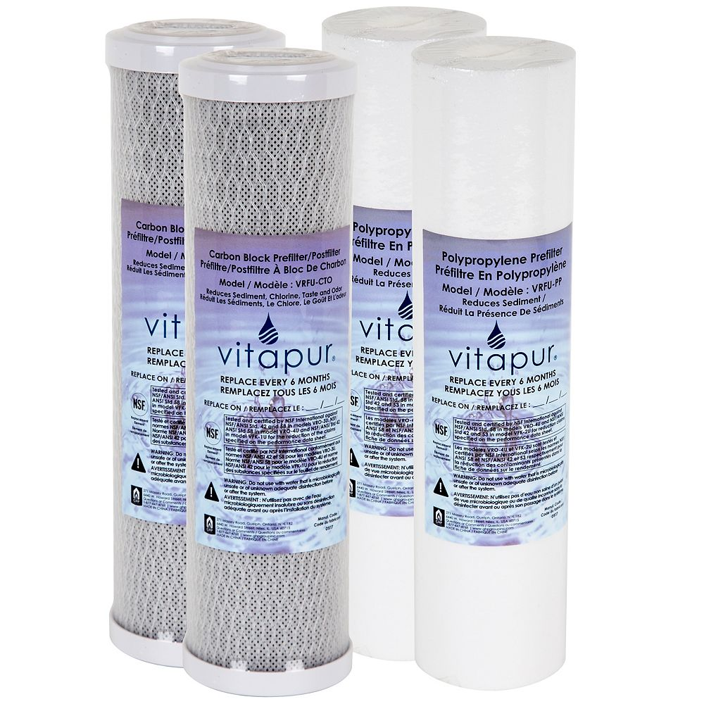 Vitapur Filter Kit for VFK-2U System - 1 year supply includes 4 filters