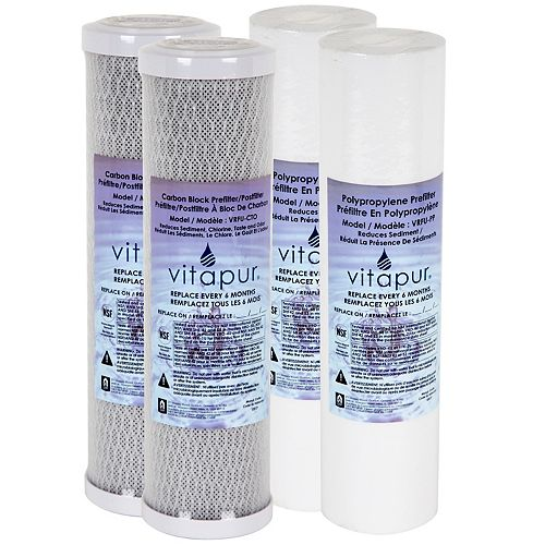 Filter Kit for VFK-2U System - 1 year supply includes 4 filters
