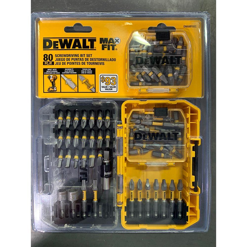 DEWALT MAXFIT Screwdriving Set (80 PC)