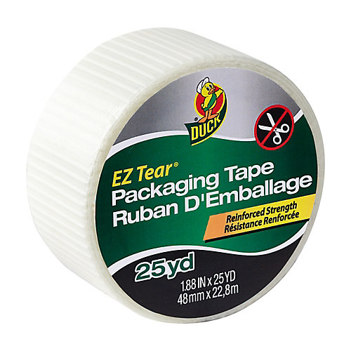 Ruban d'emballage EZ Tear - Non transparent, 1,88 po x 25 m.