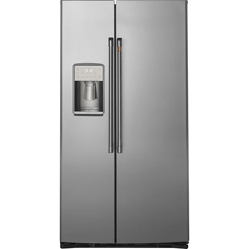 Café 21.9 Cu. Ft. Side-by-Side Refrigerator in Stainless Steel, Counter Depth