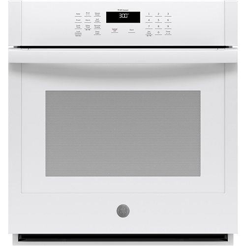 27-inch Smart Single Electric Wall Oven Self-Cleaning in White