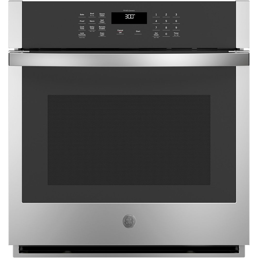 GE 27-inch Single Electric Wall Oven Self-Cleaning in Stainless Steel