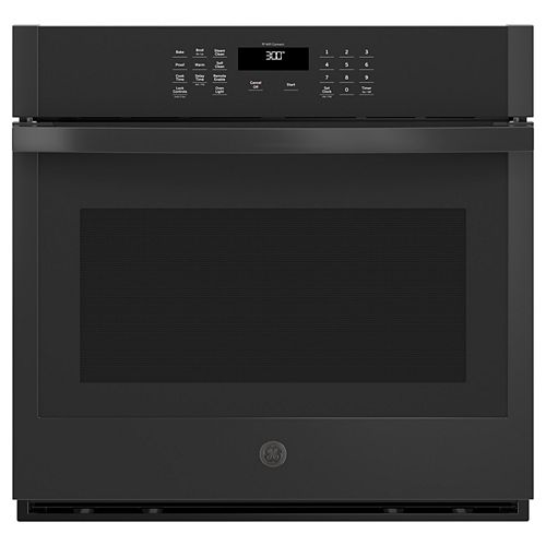 GE 30-inch Smart Single Electric Wall Oven Self-Cleaning in Black